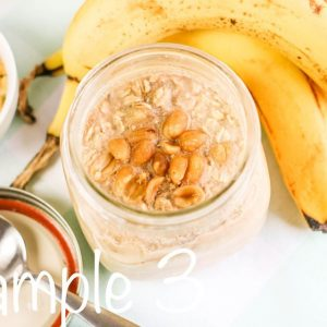 Semi-Exclusive Peanut Butter, Banana Overnight Oats