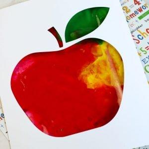 Apple Sensory Paint