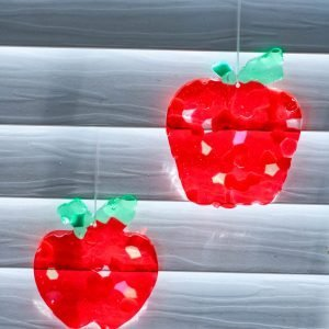 Melted Beads Apple Suncatchers
