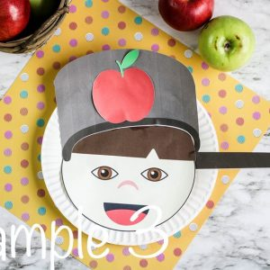 Johnny Appleseed Paper Plate