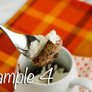 Low Carb Chocolate Mug Cake