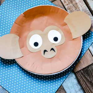 Monkey Paper Plate