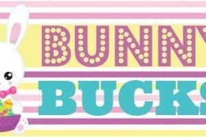 Bunny Bucks Easter Topper