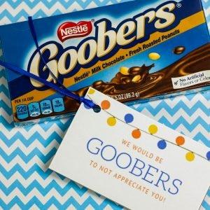 Goobers Candy Teacher's Appreciation Gift