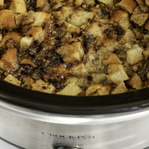 Slow Cooker Banana Heath Bread Pudding