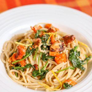 Butternut Squash Walnut Spaghetti