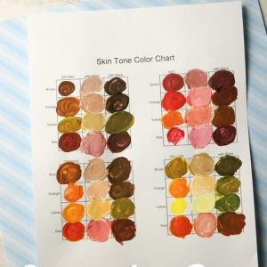 Skin Tone Paint Mixing