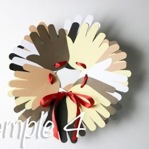Hand Prints Paper Plate Wreath
