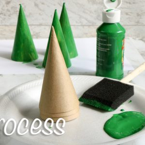 Tissue Paper Christmas Tree Cones