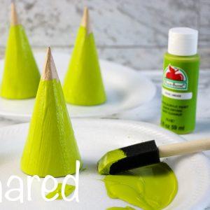 Grinch Cardboard Cone