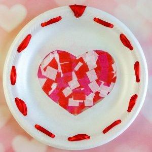 Heart Sun Catcher Paper Plates