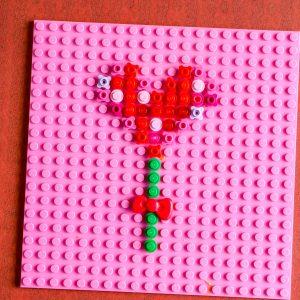 Lego Heart Flower