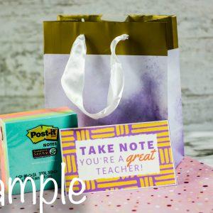 Post It Notes Teacher's Appreciation Gift