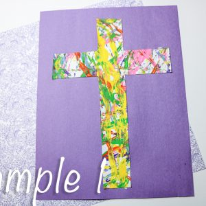 Cross Marble Painting