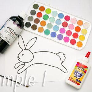Easter Bunny Black Line Glue