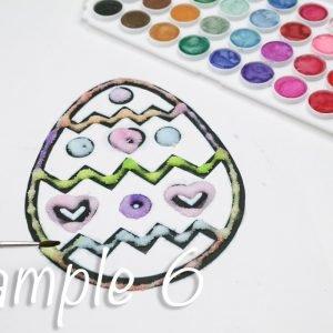 Easter Egg Salt Painting