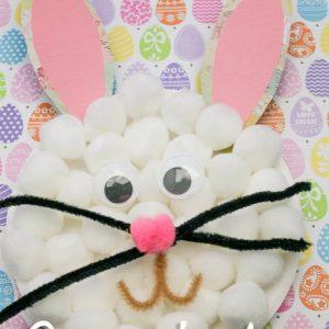 Pom Pom Bunny Paper Plate