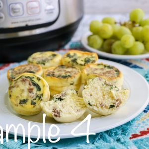 Instant Pot Sausage and Spinach Egg Bites