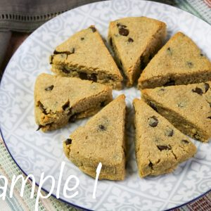 Low Carb Peanut Butter Chocolate Chip Scones