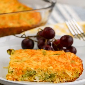 Low Carb Cheesy Chicken Broccoli Quiche