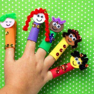 Foam Superhero Finger Puppets