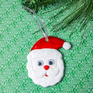 Ceramic Santa Ornament