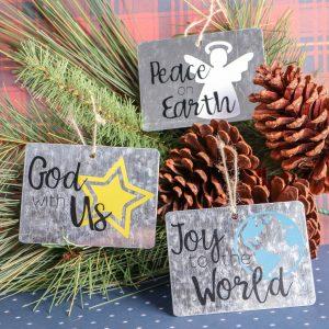 Christian Galvanized Gift Tag Ornament