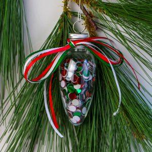 Easy Fill Christmas Light Ornament