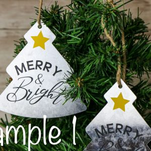 Galvanized Christmas Tree Ornament