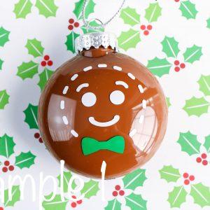Gingerbread Disc Ornament (Cricut Craft)