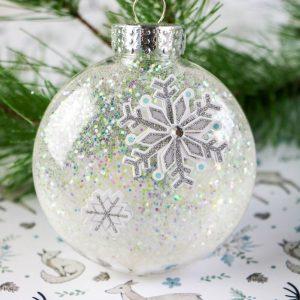 Glittered Disc Snowflake Ornament