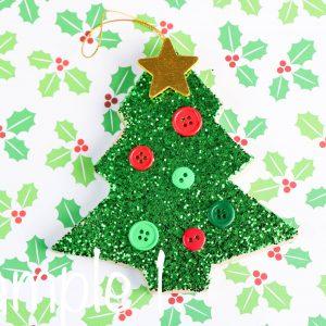 Paper Mache Christmas Tree Glittered