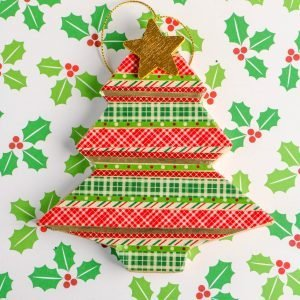 Paper Mache Christmas Tree Washi Tape