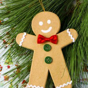 Paper Mache Gingerbread Man