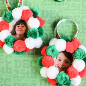 Pom Pom Mason Jar Lid Ornament