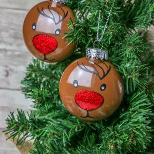 Reindeer Disc Ornament