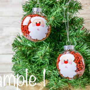 Santa Disc Ornament (Cricut Craft)