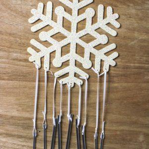 Snowflake Wind Chime Craft