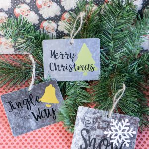 Traditional Galvanized Gift Tag Ornament