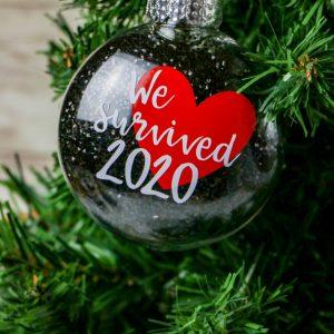 We Survived 2020 Ornament (Cricut Tutorial)