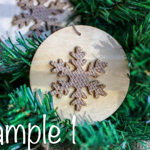 Wood and Burlap Snowflake Ornament