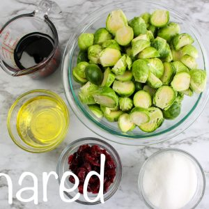 Balsamic Brussel Sprouts and Cranberries