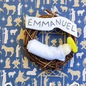 Emmanuel Grapevine Wreath