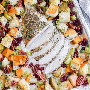 Turkey Breast Fillet Sheet Pan Dinner