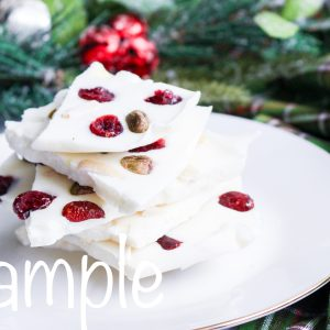 White Chocolate Cranberry Bark