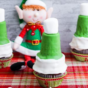Elf Hat Cupcakes