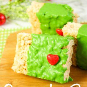 Grinch Krispie Treats