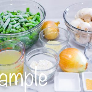 Healthy Green Bean Casserole