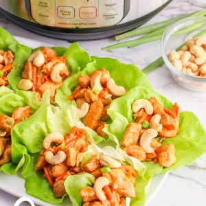 Instant Pot Low Carb Cashew Chicken Lettuce Wraps