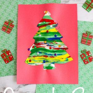 Marble Painted Christmas Tree